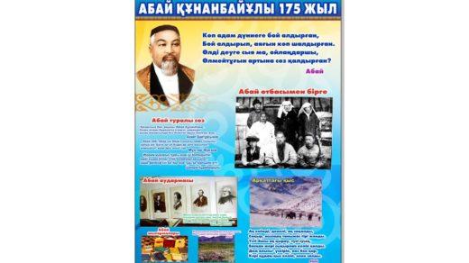 Плакат А1 Абай Кунанбаев [CDR]