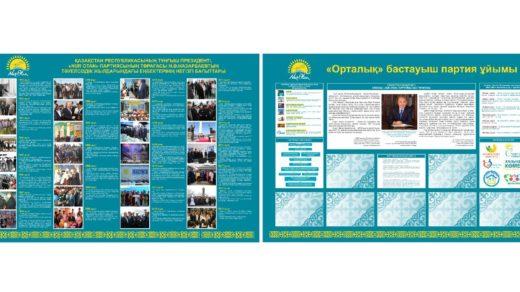Стенд значимые даты Казахстана, хронология дат, Казахстан 1991- 2019 год [4600x3100px|JPG]