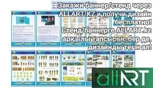 АӘД бойынша стендтер жиынтығы, комплект стендов по НВП рус/каз [CDR]