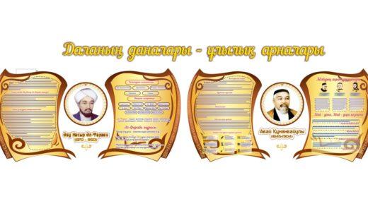 Стенд Аль-Фараби и Абай Кунанбаев [CDR]