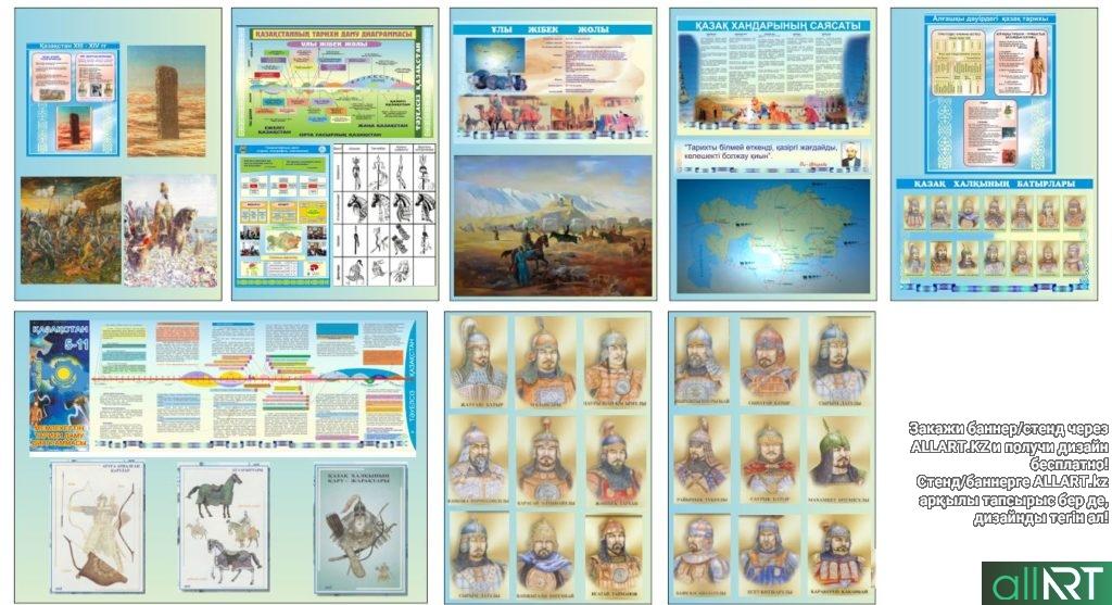 Набор плакатов/стендов история Казахстана [CDR]