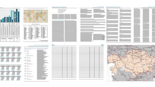 Шаблон внутренних страниц ежедневника Казахстана, карта с СНГ, календарь [CDR]