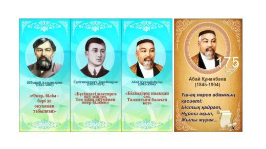 Стенд личности Казахстана Абай вертикальный портрет [CDR]
