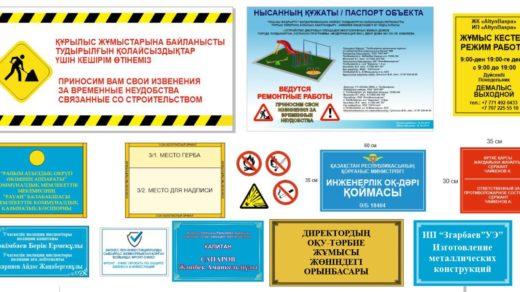 Наружные таблички организаций, внутренние таблички, паспорт объекта [CDR]