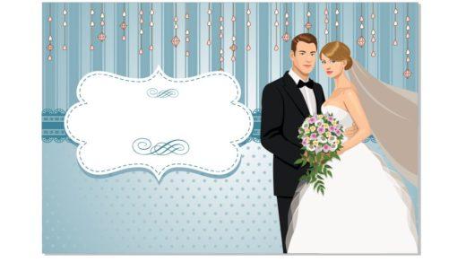 Свадебный шаблон в векторе [CDR]
