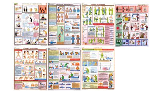 Плакаты для кабинета ОБЖ, НВП оказание первой помощи [CDR]