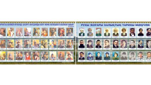 Стенд великие личности Казахстана, батыры, деятели, герои, писатели [CDR]