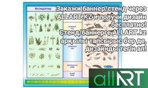 Стенды по биологии  на казахском, биология қазақ тіліндегі стенд [CDR]