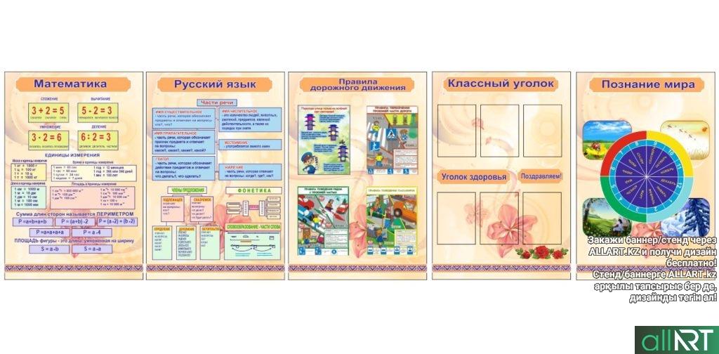 Комплект стендов для начального класса на русском языке [CDR]