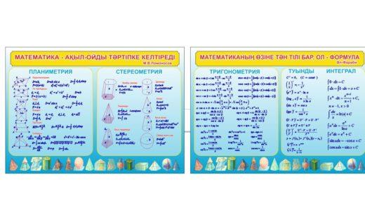 Стенд математические формулы, геометрии, тригонометрии [CDR]