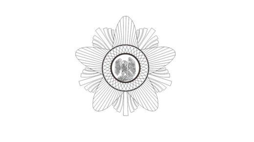 Логотип Алтын Қыран ордені, Орден Золотого орла 3D [CDR]