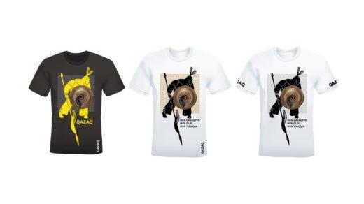 Дизайн футболки с батыром казахским колоритом в векторе [CDR]