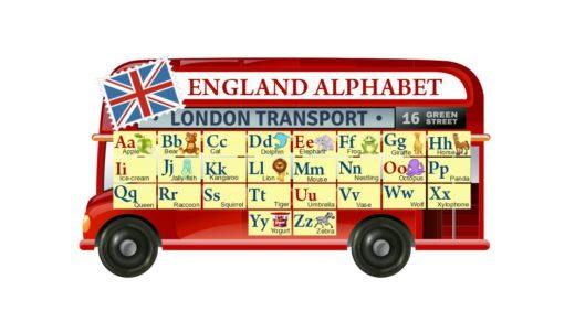 Стенд английский алфавит на автобусе [CDR]
