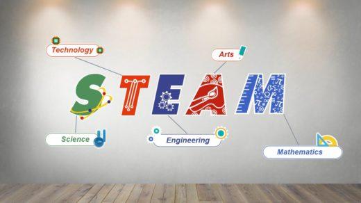 3D стенд steam в коридор школы [CDR]