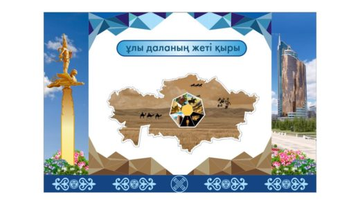Стенд в холл қазақстанның жеті қыры [CDR]