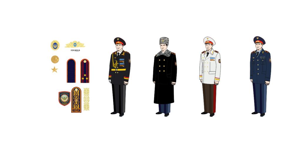 ІІМ генералының нысаны, форма генерала МВД РК в векторе [CDR]